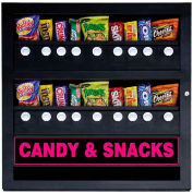 Seaga GES18 - Snack Vending Machine, Eighteen Selections, 9 Over 9