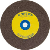 "Norton 07660788278 Gemini Bench and Pedestal Wheel 8"" x 3/4"" x 1"" 36 Grit Aluminum Oxide"