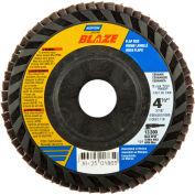 "Norton 63642501865 Blaze Plastic Flat Flap Disc T27 4-1/2"" x 7/8"" 36 Grit Seeded Gel Ceramic - Pkg Qty 10"