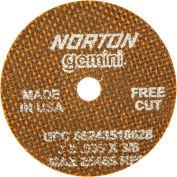 "Norton 66243510628 Gemini Small Diameter Cut-Off Wheel 3"" x .035"" x 3/8"" 60 Grit Alum. Oxide Type 1 - Pkg Qty 25"