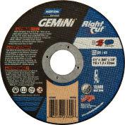 "Norton 66252823602 Gemini Right Angle Cut-Off Wheel 4-1/2"" x .045"" x 7/8"" 36 Grit Alum. Oxide Type 1 - Pkg Qty 25"