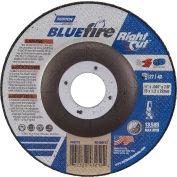 "Norton 66252843219 BlueFire Cutting Wheel 4-1/2"" x 1/16"" x 7/8"" Zirconia Alumina / Aluminum Oxide - Pkg Qty 25"