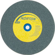 "Norton 66253144536 Gemini Bench and Pedestal Wheel 10"" x 1"" x 1-1/4"" 60 Grit Silicon Carbide"