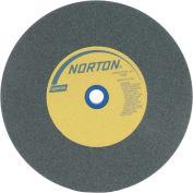 "Norton 66253160366 Gemini Bench and Pedestal Wheel 10"" x 1"" x 1-1/4"" 80 Grit Silicon Carbide"