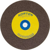"Norton 66253161250 Gemini Bench and Pedestal Wheel 10"" x 1-1/4"" x 1-1/4"" 36 Grit Aluminum Oxide"