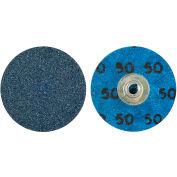 "Norton 66261138638 BlueFire Quick-Change Cloth Disc 2"" Dia. 24 Grit Zirconia Alumina Type II - Pkg Qty 25"