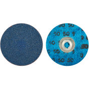 "Norton 66261138660 BlueFire Quick-Change Cloth Disc 3"" Dia. 80 Grit Zirconia Alumina Type II - Pkg Qty 25"