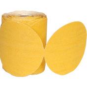 """Norton 66261149830 Paper PSA Disc Roll 5"""" Dia. P80 Grit Aluminum Oxide 100 Disc Per Roll"""
