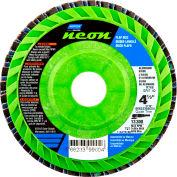 "Norton 66623399005 Neon Plastic Flat Flap Disc T27 4-1/2"" x 7/8"" P60 Grit Zirconia Alumina - Pkg Qty 10"