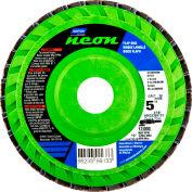 "Norton 66623399011 Neon Plastic Flat Flap Disc T27 5"" x 7/8"" P120 Grit Zirconia Alumina - Pkg Qty 10"