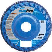 "Norton 66623399141 BlueFire Plastic Flat Flap Disc T27 4-1/2"" x 7/8"" P40 Grit Zirconia Alumina - Pkg Qty 10"