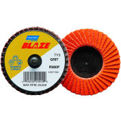 "Norton 77696090146 Blaze Plastic Flat Flap Disc T27 2"" TR 40 Grit Seeded Gel Ceramic - Pkg Qty 10"