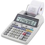 "Sharp® 12-Digit Calculator, EL1750V, 2 Color Printing, 5-1/5"" X 8-1/2"" X 2-1/8"", White"