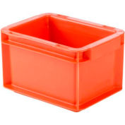 "SSI Schaefer Euro-Fix Solid Container EF2120 - 8"" x 6"" x 5"", Red"