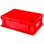 """SSI Schaefer Euro-Fix Solid Container EF4120 - 16"""" x 12"""" x 5"""", Red"""