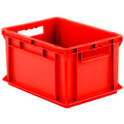 """SSI Schaefer Euro-Fix Solid Container EF4220 - 16"""" x 12"""" x 9"""", Red - Pkg Qty 12"""