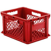 """SSI Schaefer Euro-Fix Mesh Container EF4223 - 16"""" x 12"""" x 9"""", Red - Pkg Qty 12"""