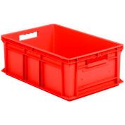 "SSI Schaefer Euro-Fix Solid Container EF6220 - 24"" x 16"" x 8"", Red - Pkg Qty 6"
