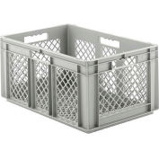"""SSI Schaefer Euro-Fix Mesh Container EF6283 - 24"""" x 16"""" x 1"""", Gray"""