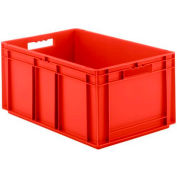 """SSI Schaefer Euro-Fix Solid Container EF6320 - 24"""" x 16"""" x 1"""", Red"""