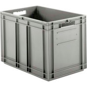 "SSI Schaefer Euro-Fix Solid Container EF6420 - 24"" x 16"" x 17"", Gray - Pkg Qty 2"