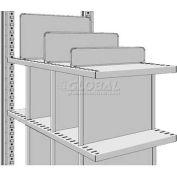 """Freestanding Divider For 24""""D R3000 Steel Shelving, 4""""H"""