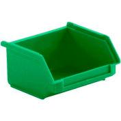 SSI Schaefer  LF040402.0GN1 - 4 x 4 x 2 LF Hopper Front Plastic Stacking Bin, Green,