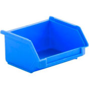 SSI Schaefer  LF040402.DBL1 - 4 x 4 x 2 LF Hopper Front Stacking Bin with Permanent Dividers, Blue