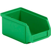 SSI Schaefer  LF060503.0GN1 - 5 x 6 x 3 LF Hopper Front Plastic Stacking Bin, Green,
