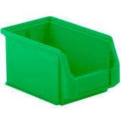 SSI Schaefer  LF090605.0GN1 - 6 x 9 x 5 LF Hopper Front Plastic Stacking Bin, Green,