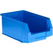 SSI Schaefer  LF140806.0BL1 - 8 x 14 x 6 LF Hopper Front Plastic Stacking Bin, Blue,  - Pkg Qty 28