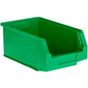 SSI Schaefer  LF140806.0GN1 - 8 x 14 x 6 LF Hopper Front Plastic Stacking Bin, Green,