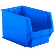SSI Schaefer  LF201212.0BL1 - 12 x 20 x 12 LF Hopper Front Plastic Stacking Bin, Blue,