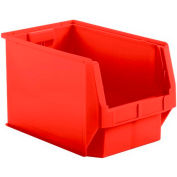 SSI Schaefer  LF201212.0RD1 - 12 x 20 x 12 LF Hopper Front Plastic Stacking Bin, Red,