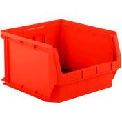 SSI Schaefer  LF201812.0RD1 - 18 x 20 x 12 LF Hopper Front Plastic Stacking Bin, Red,