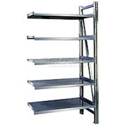 "Steel Pick Shelving, 5 Level, Single, Straight, 78""H x 50""W x 24""D, Add-On"