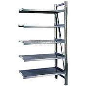 "Steel Pick Shelving, 5 Level, Single, Straight, 78""H x 50""W x 24""D, Add-On"