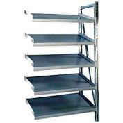 """Steel Pick Shelving, 5 Level, Single, Tilt, 78""""H x 50""""W x 24""""D, Add-On"""