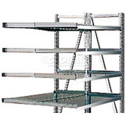 """Steel Pick Shelving, 5 Level, Double,Straight/Straight, 78""""H x 50""""W x 48""""D, Add-On"""