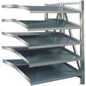 "Steel Pick Shelving / 5 Level / Double /Tilt / Straight / 78""H x 50""W x 48""D / Add-On"