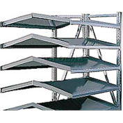 "Steel Pick Shelving, 5 Level, Double,Tilt/Tilt, 78""H x 50""W x 48""D, Add-On"