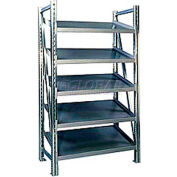 "Steel Pick Shelving, 5 Level, Single, Tilt, 78""H x 50""W x 32""D, Starter"