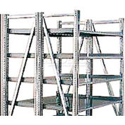 "Steel Pick Shelving, 5 Level, Double, Straight/Straight, 78""H x 50""W x 48""D, Starter"
