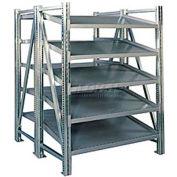 """Steel Pick Shelving, 5 Level, Double, Tilt/Straight, 78""""H x 50""""W x 48""""D, Starter"""