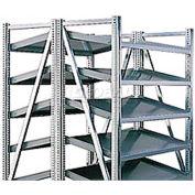 """Steel Pick Shelving, 5 Level, Double, Tilt/Tilt, 78""""H x  50""""W x 48""""D, Starter"""