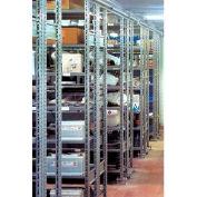 """R3000 Steel Shelving W/Six Shelves, 85""""H Starter Unit, 48""""W X 18""""D Shelf, Open Style W/Cross Brace"""