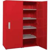 "Space Saver Cabinet-Double Unit-60""W x 75""H x 21""D-Carmine Red"