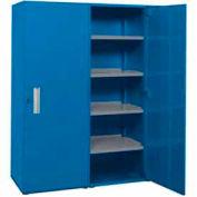 """Space Saver Cabinet-Double Unit-60""""W x 75""""H x 21""""D-Monaco Blue"""