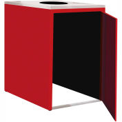 "Single Recycle Cabinet - 30""W x 27-3/4""D x 39-15/32""H (Carmine Red)"