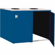 "Double Recycle Cabinet - 60""W x 27-3/4""D x 39-15/32""H (Monaco Blue)"